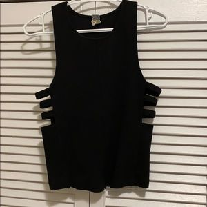 Free People Rib Cage Cut Out Tank